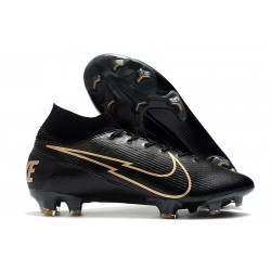 Nike Mercurial Superfly VII Elite Firm Ground Leather Black Gold
