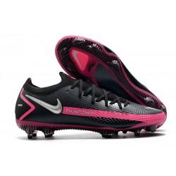 Nike Phantom GT Elite FG Firm Ground Black Pink Blast Metallic Silver