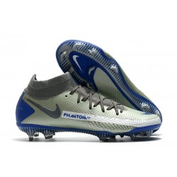 Nike Phantom GT Elite DF FG New 2021 Silver Blue