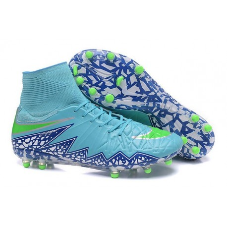 new products 0a5af ba0bb Neymar New Nike Hypervenom Phantom II FG Soccer Cleats Blue Purple Green