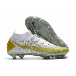 Nike Phantom GT Elite DF FG New 2021 White Grey Gold