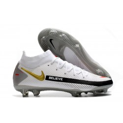 Nike Phantom GT Elite DF FG New 2021 White Gold Black
