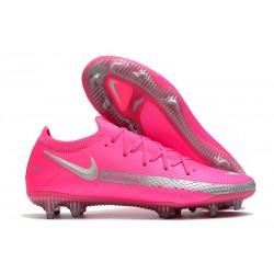 New Nike Phantom GT Elite FG Boots Pink Silver