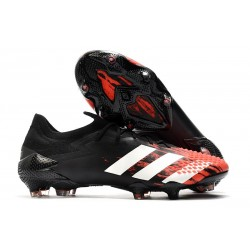adidas Predator Mutator 20.1 Low Cut FG Core Black White Active Red