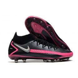 Nike Phantom GT Elite DF AG-PRO Artificial-Grass Black Pink Blast Metallic Silver