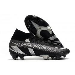 Nike Mercurial Superfly 7 Elite DF FG Black Silver