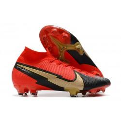 Nike Mercurial Superfly 7 Elite DF FG Red Black Gold