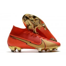 Nike Mercurial Superfly 7 Elite DF FG CR100 Red Golden
