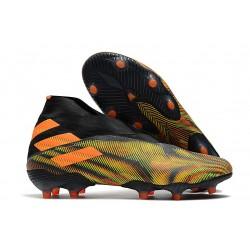 Top adidas Nemeziz 19+ FG Soccer Cleats Green Black Orange