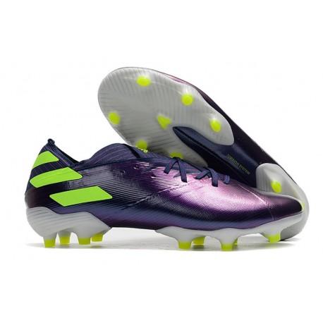 adidas Nemeziz 19.1 FG Soccer Shoes Indigo Green Glory Purple
