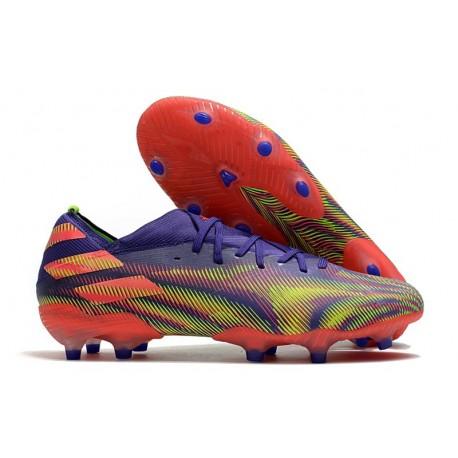 adidas Nemeziz 19.1 FG Soccer Shoe Energy Ink Signal Pink Signal Green