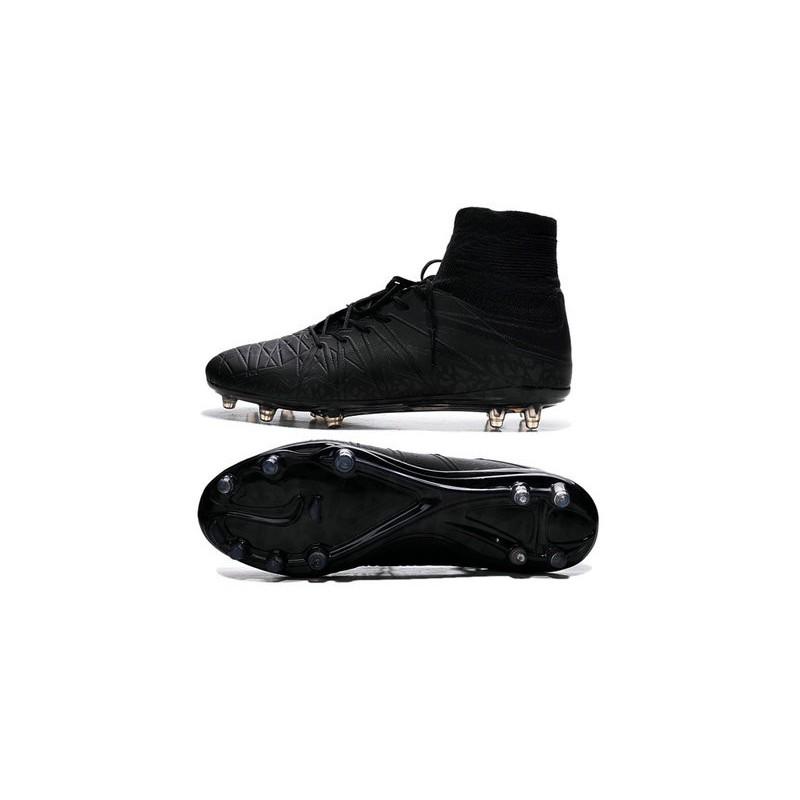 Neymar New Nike Hypervenom Phantom II FG Soccer Cleats All Black f9403f21e