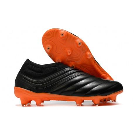 adidas Copa 20+ K-leather FG Soccer Cleat - Black Orange
