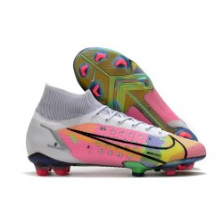 Nike Top Mercurial Superfly 8 Elite FG Cleats White Pink