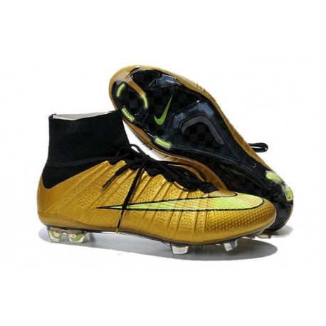 Cristiano Ronaldo Nike Mercurial Superfly 4 FG Football Boots Gold Black 68bc40b6a173c