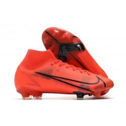 Nike Top Mercurial Superfly 8 Elite FG Cleats Red Black