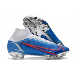 Nike Mercurial Superfly VIII Elite FG Blue White Red