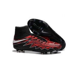 Robert Lewandowski Nike Hypervenom Phantom 2 FG Firm Ground Boots Red Black