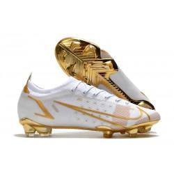 Nike Mercurial Vapor 14 Elite FG Shoes White Gold
