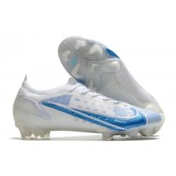 Nike Mercurial Vapor 14 Elite FG Shoes White Blue