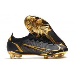 Nike Mercurial Vapor 14 Elite FG Shoes Black Gold