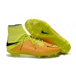 Nike Hypervenom Phantom 2 FG Firm Ground Boots Leather Canvas Black Volt