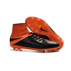 Nike Hypervenom Phantom 2 FG Firm Ground Boots Leather Orange Black