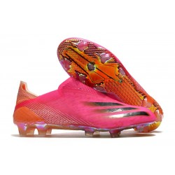 adidas X Ghosted + FG/ AG Superspectral - Shock Pink /Core Black /Screaming Orange