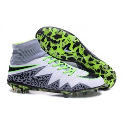 New 2016 Nike Hypervenom Phantom II FG ACC Neymar Cleat White Black Green