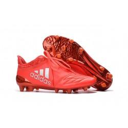 Top adidas X 16+ Purechaos FG Football Cleats Solar Red Silver