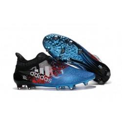 Top adidas X 16+ Purechaos FG Football Cleats Black Shock Blue