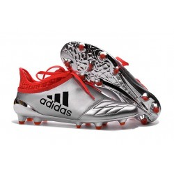 Top adidas X 16+ Purechaos FG Football Cleats Silver Black Red