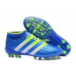 adidas Ace 16.1 FG New 2016 Soccer Boots Blue Slime White