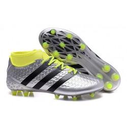 News adidas Ace 16.1 FG Men's Football Shoes Silver Black