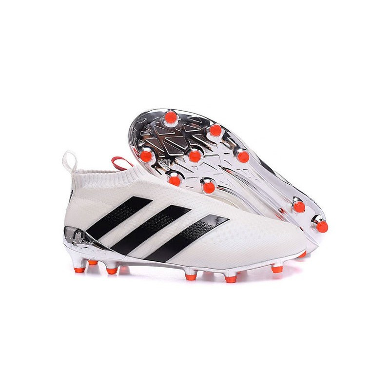 ... adidas ACE 16+ Purecontrol FG Soccer Cleats White Black Maximize.  Previous. Next 575bcd101126