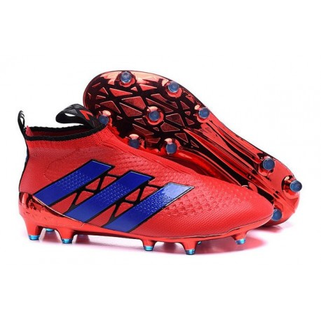 new style 62495 1e6d5 New 2016 Men's adidas ACE 16+ Purecontrol FG Soccer Cleats Red Purple