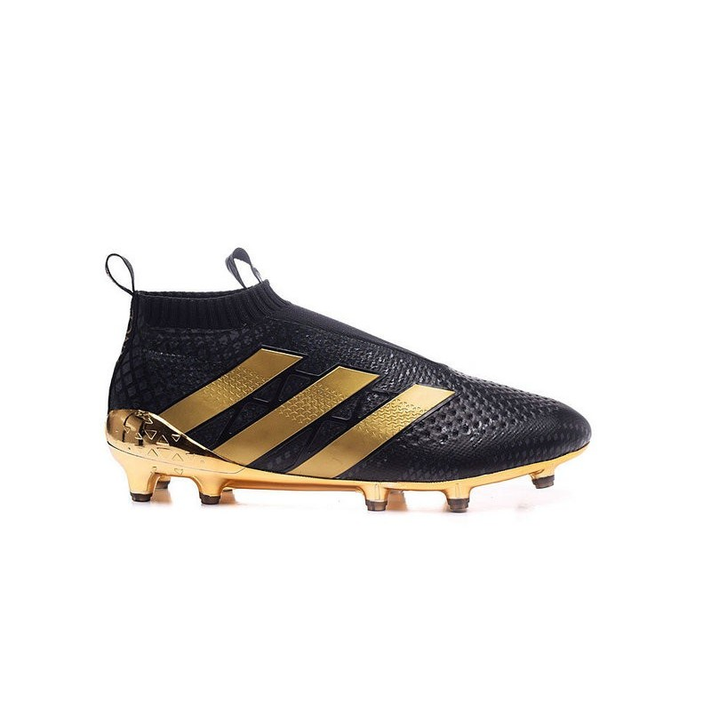 28beba72ce48 New 2016 Paul Pogba adidas ACE 16+ Purecontrol FG Soccer Cleats Black Golden