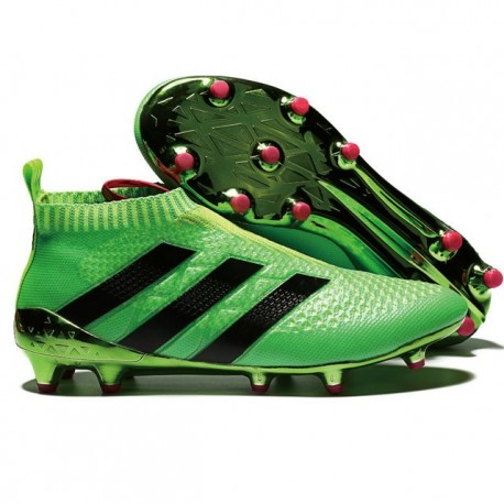 reputable site db702 c4c75 adidas ACE 16+ Pure Control FG Top Football Boots Green Black
