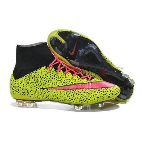 premium selection 16d48 26c00 Cristiano Ronaldo Nike Mercurial Superfly 4 FG Football Boots Safari Yellow  Pink