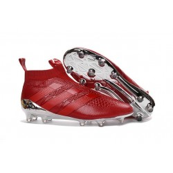 adidas ACE 16+ Pure Control FG Top Football Boots Red Silver