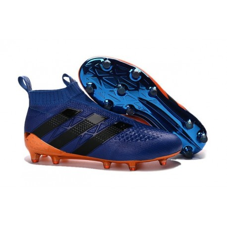 size 40 2c872 eddab adidas ACE 16+ Pure Control FG Top Football Boots Blue Orange Black