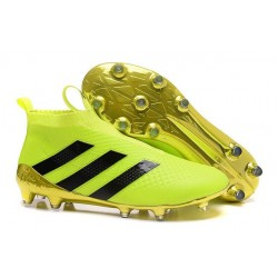 adidas ACE 16+ Pure Control FG Top Football Boots Yellow Black