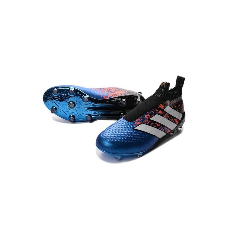 adidas paris pack ace 16+ pure control fg top football boots blue black