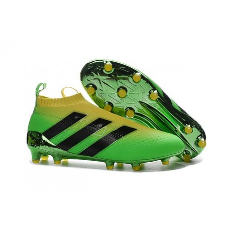 innovative design 42da4 00c8d adidas ACE 16+ Purecontrol FG Olympic 2016 Soccer Boot Green Black