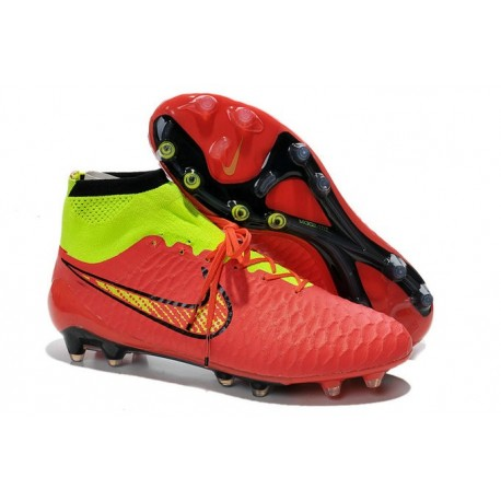 new product 2d09d 6b5d5 Nike Magista Obra FG ACC Men s Firm Ground Football Boots Red Gold Volt