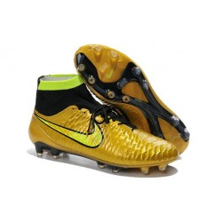 Nike Magista Obra FG ACC Men's Firm Ground Football Boots Gold Black
