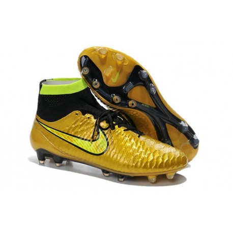 bfa98d9c94d nike magista obra fg with acc gold black