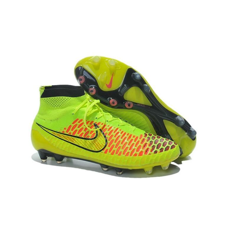 new concept 65401 c056b Nike Magista Obra FG ACC Mens Firm Ground Football Boots Volt Gold Hyper  Punch