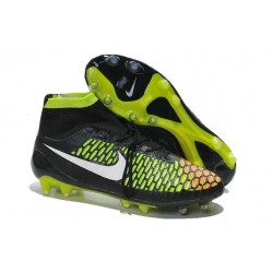 High Top Nike Magista Obra FG ACC Soccer Cleats Black White Hyper Punch