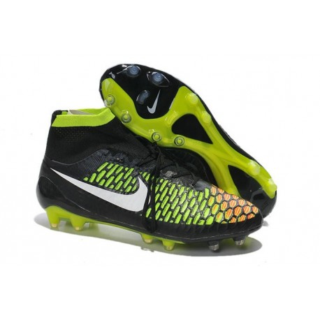 separation shoes de76a 33b63 High Top Nike Magista Obra FG ACC Soccer Cleats Black White Hyper Punch